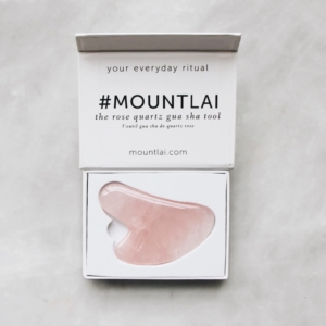 Rose Quartz Gua Sha Face Lifting Tool